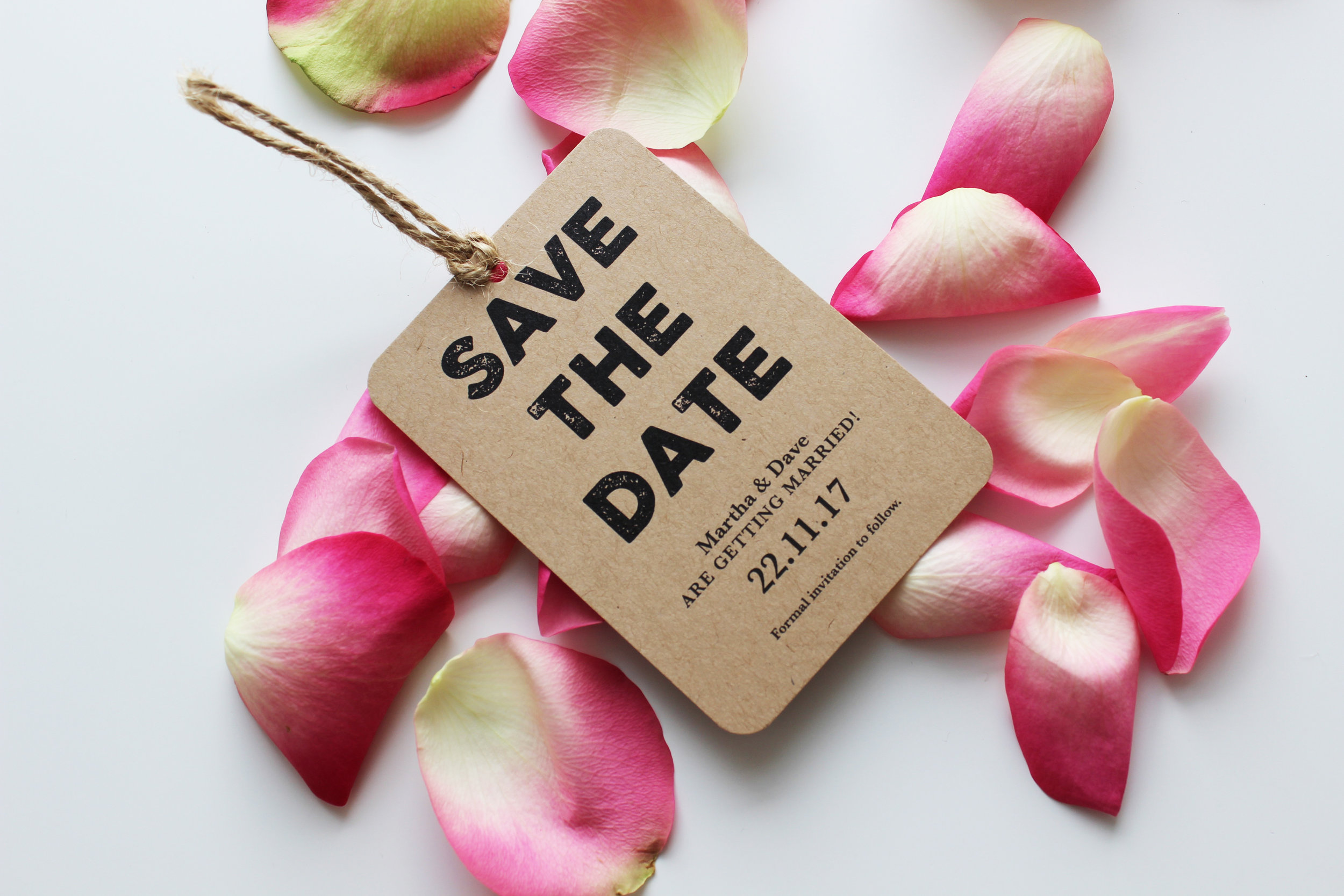 Save the Date Tags