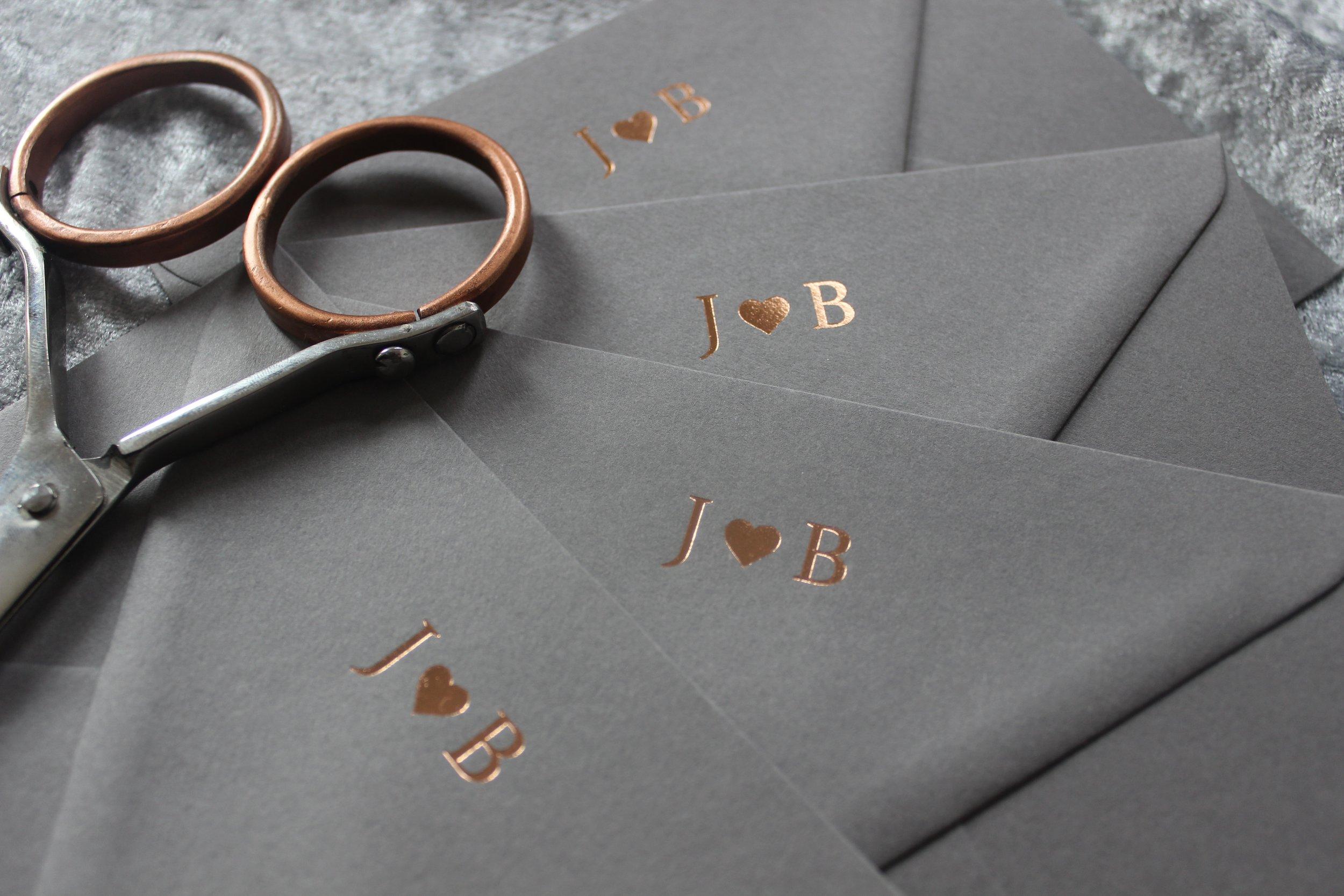 Rose Gold Envelopes