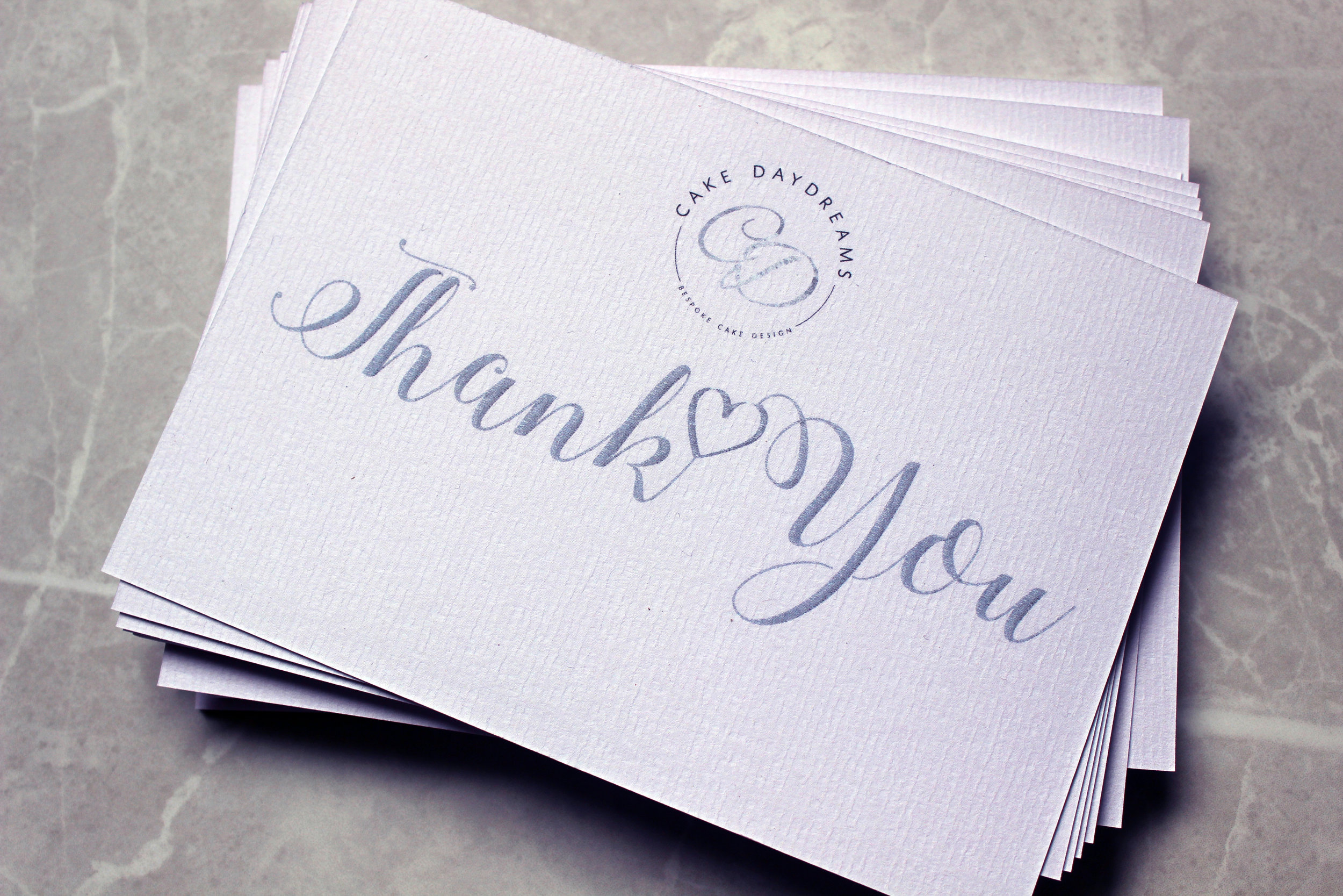 Thank You Cards: Cake Daydreams