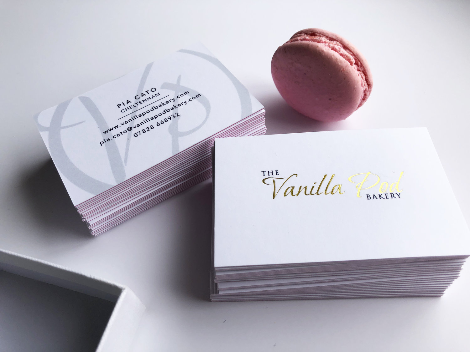 Business Cards for Vanilla Pod Bakery