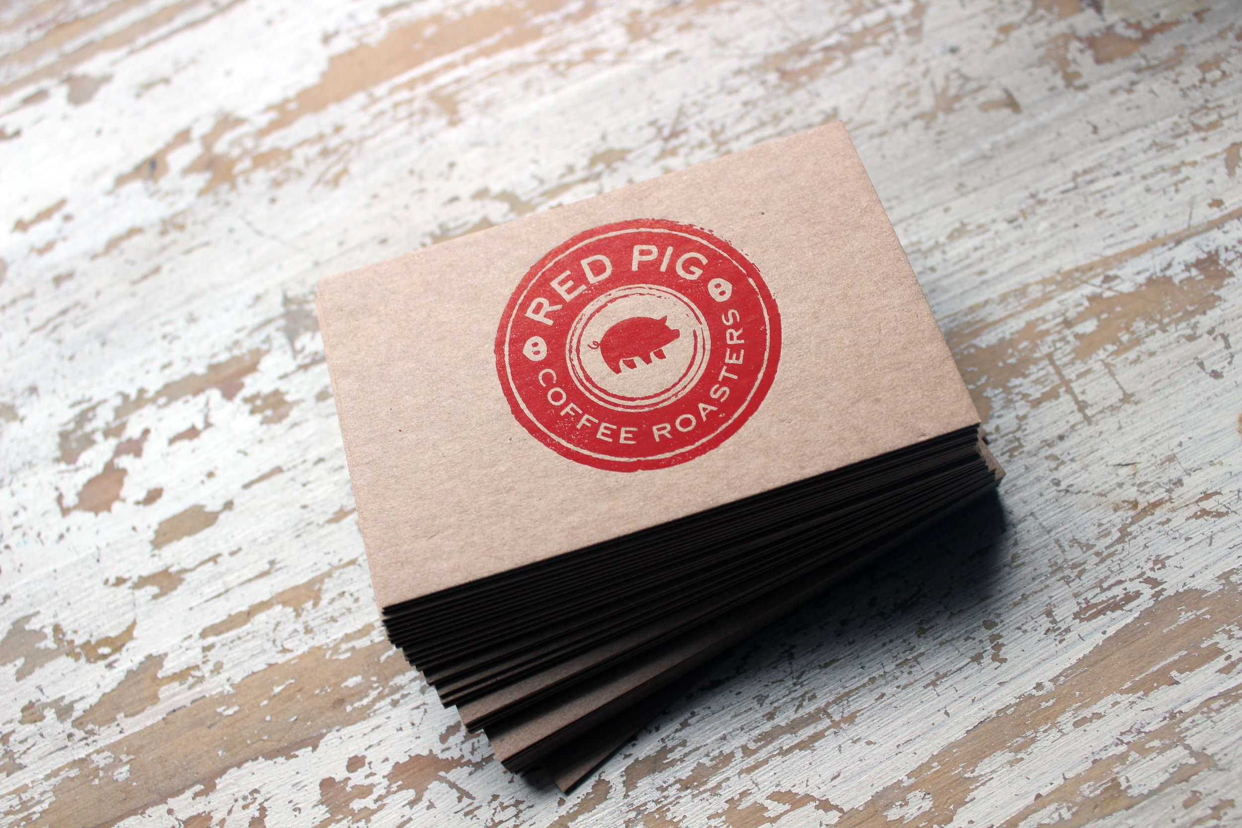 Business Cards For Red Pig Coffee