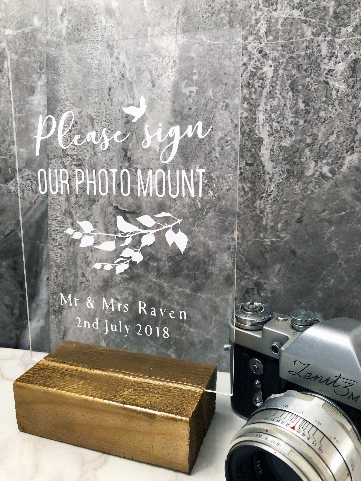 Perspex Wedding Sign