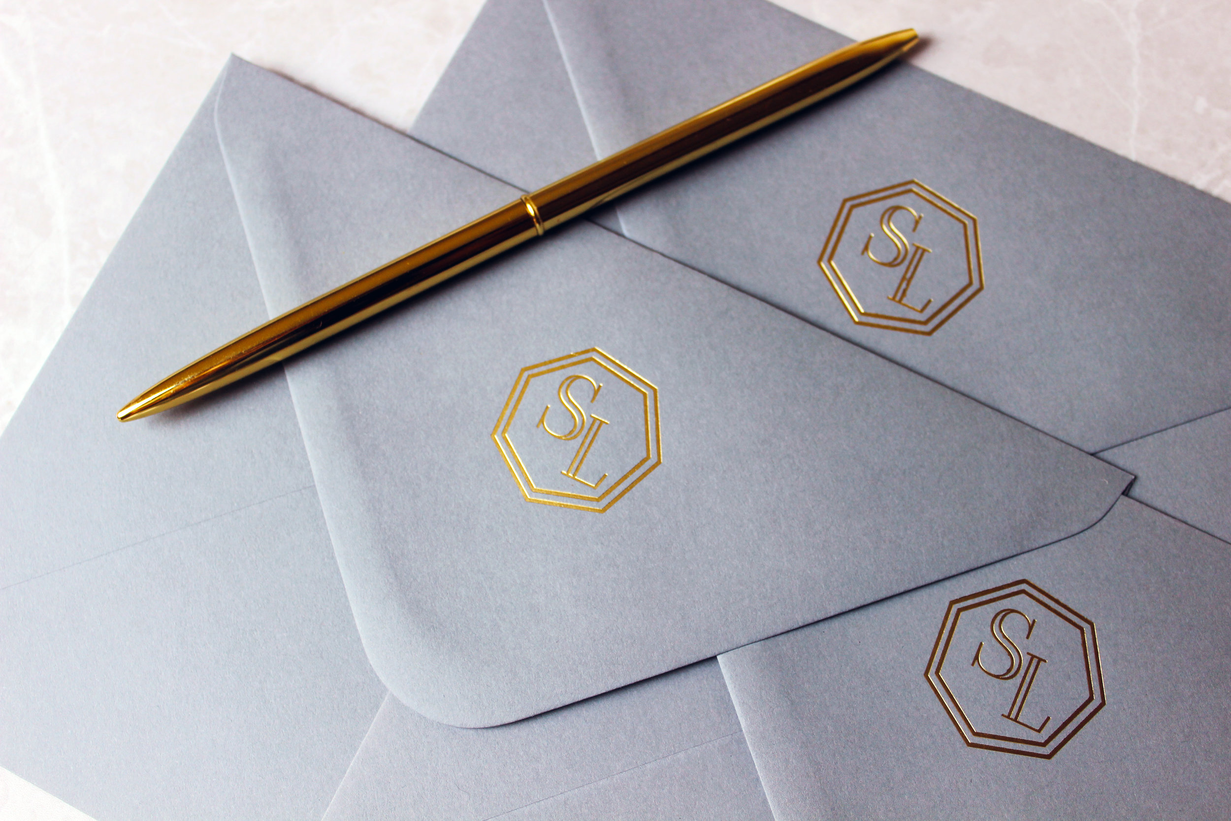 Gold Foiled Envelopes