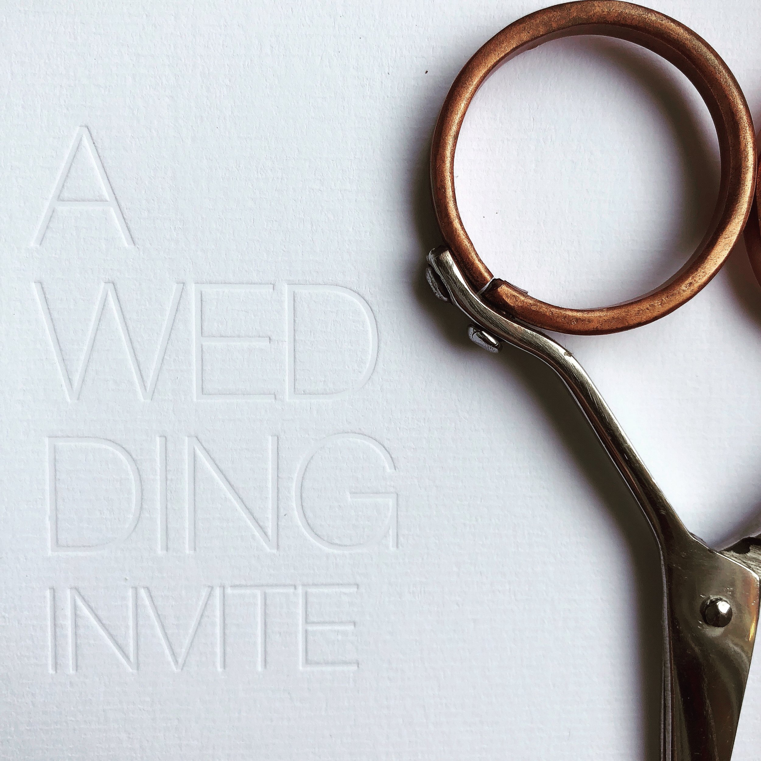 Blind Debossed Invitations