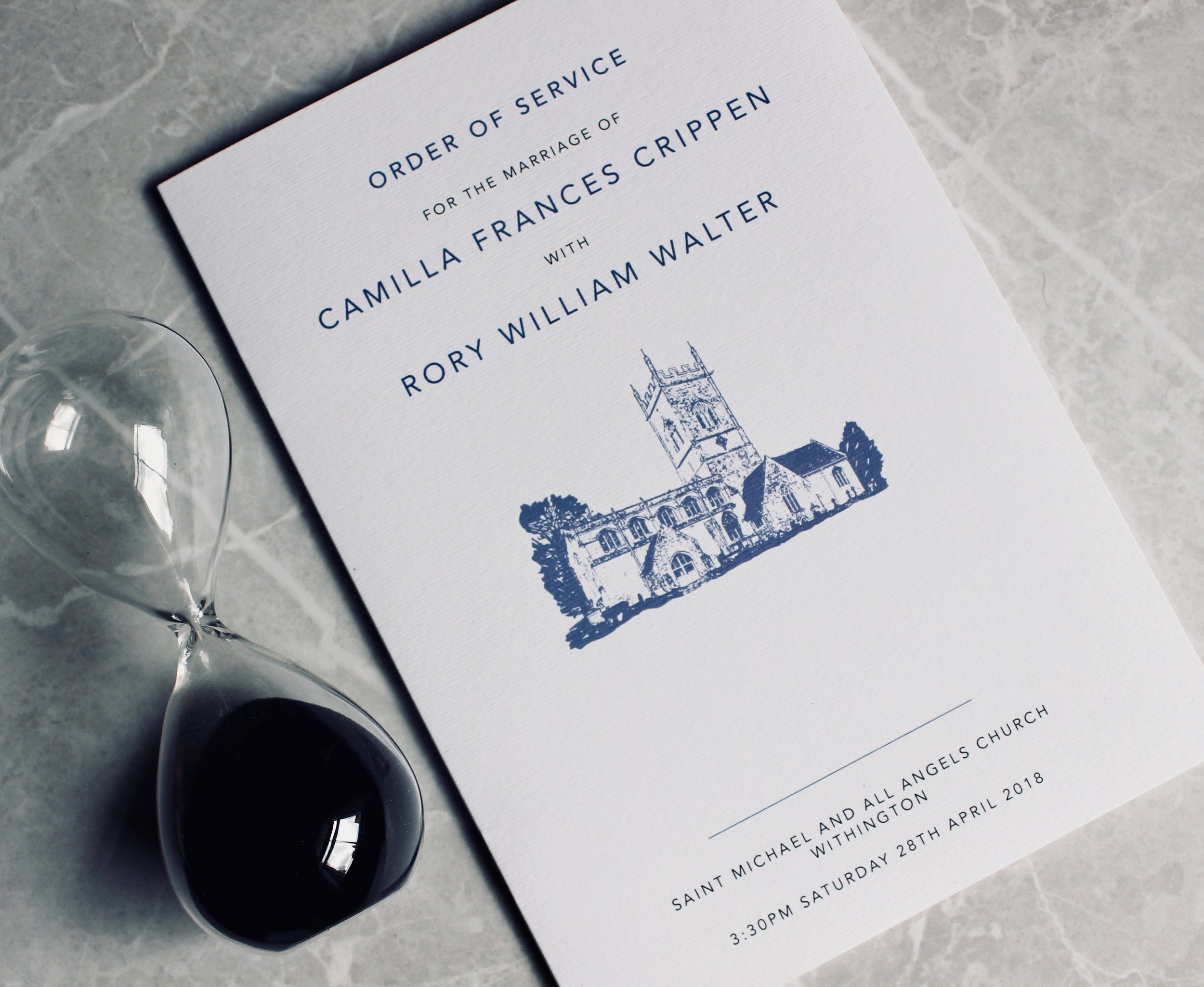 Order of Service with Church Design