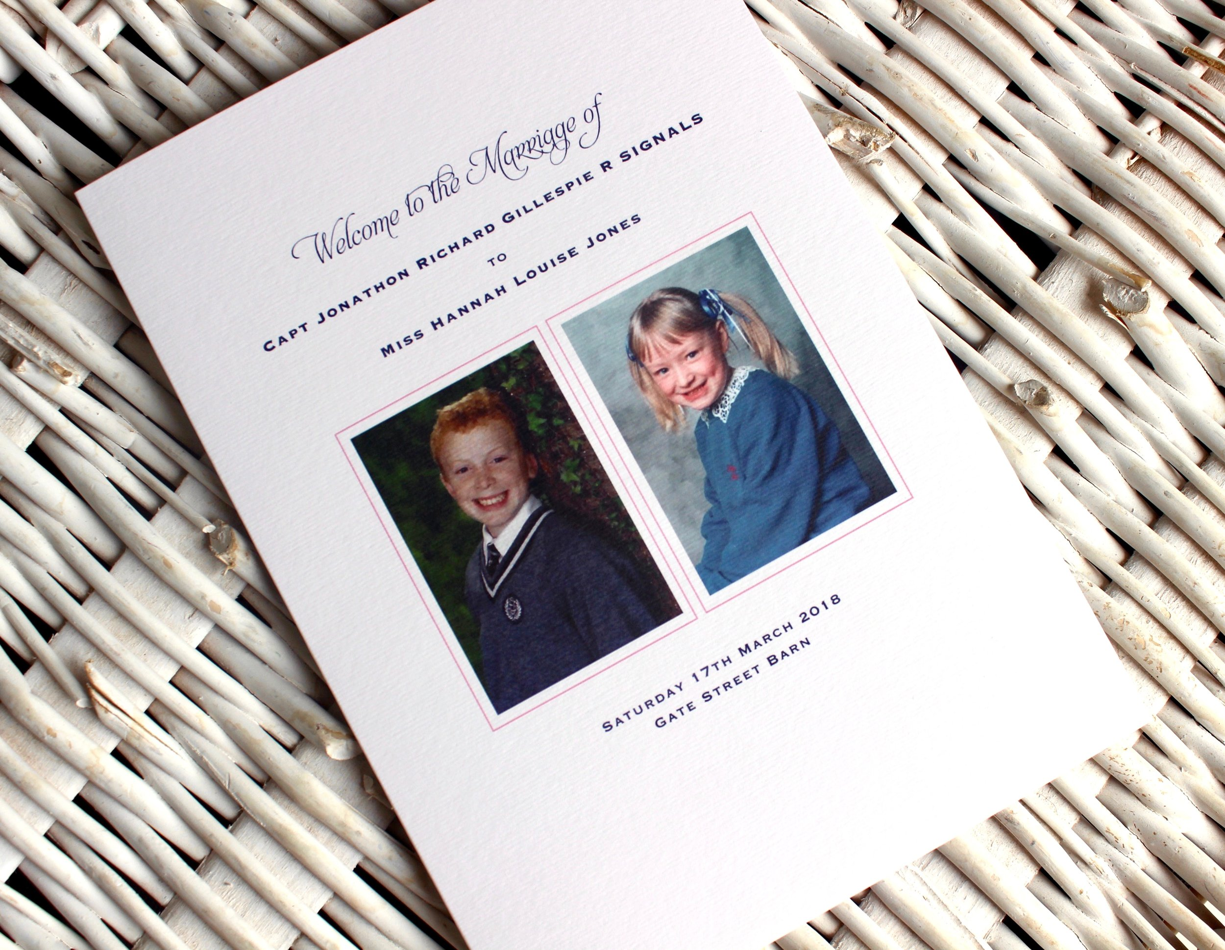 Decorative Order of Service Booklet