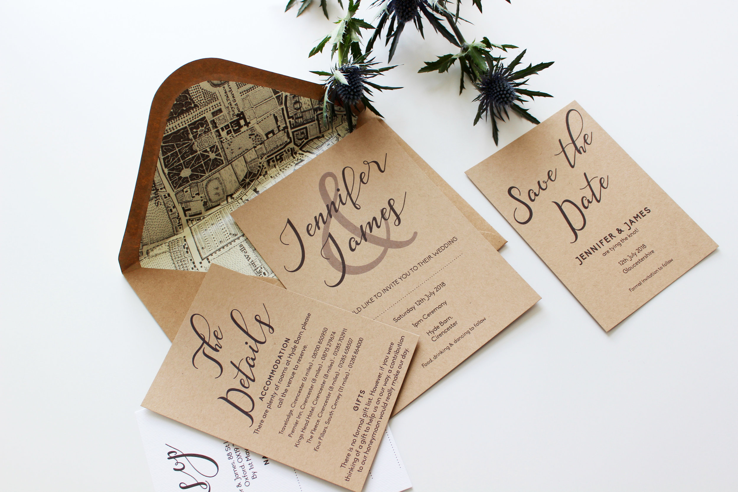 Elegant Rustic Invitations