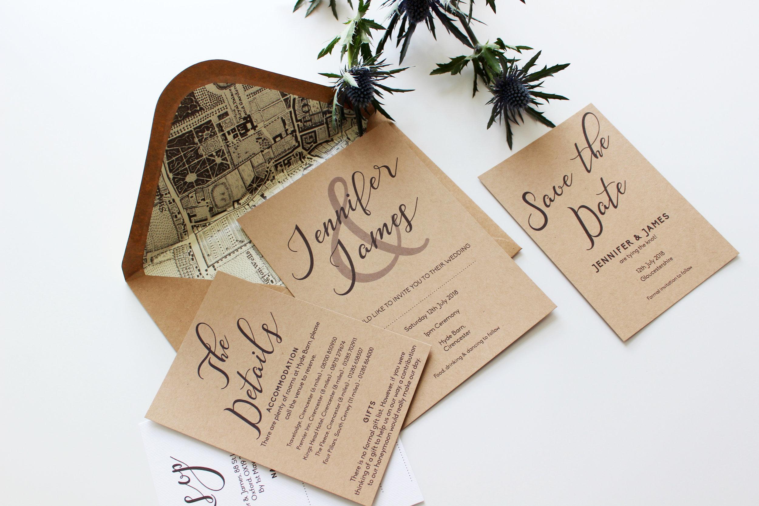 Elegant Rustic Invitations