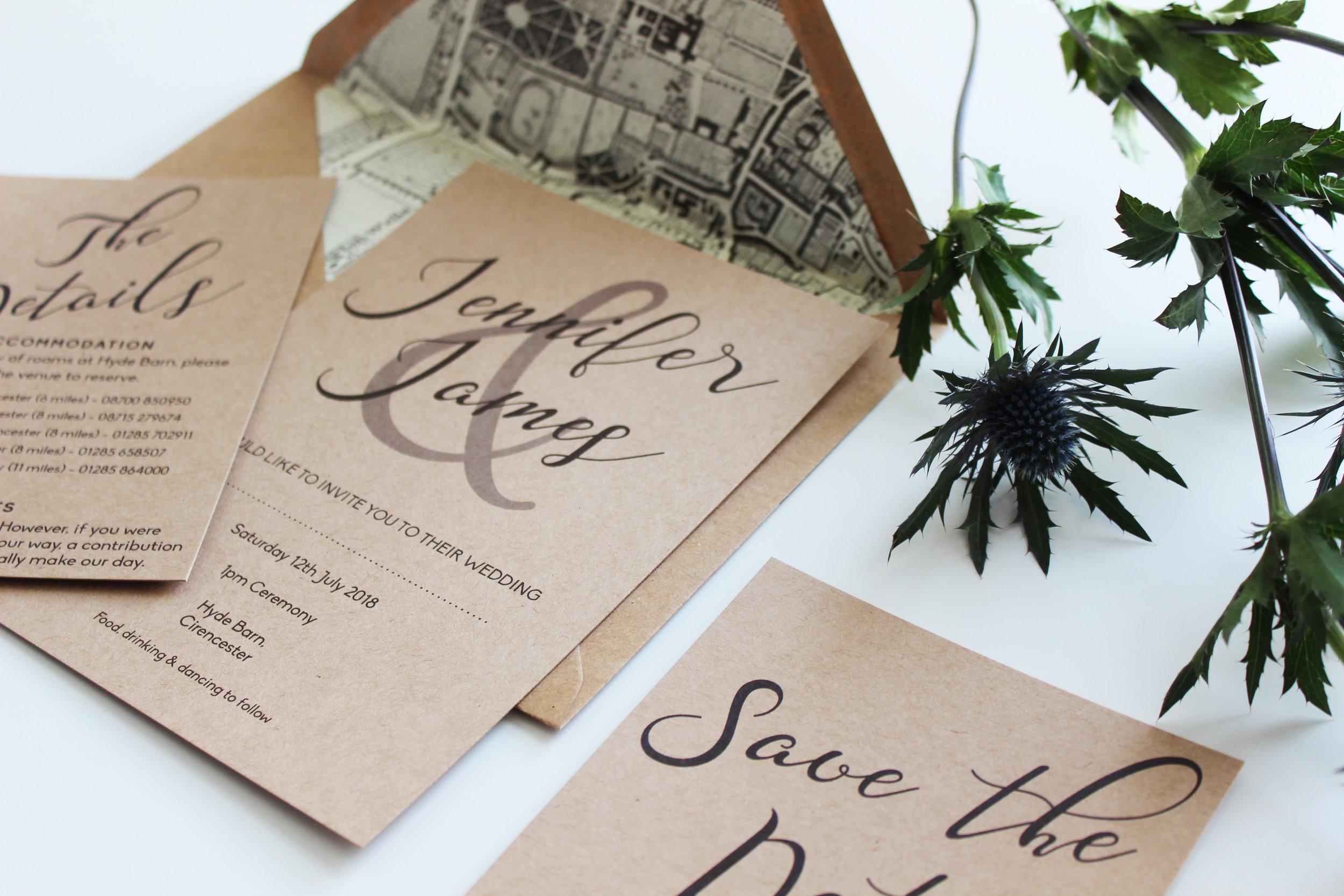 Rustic Elegant Wedding Stationery