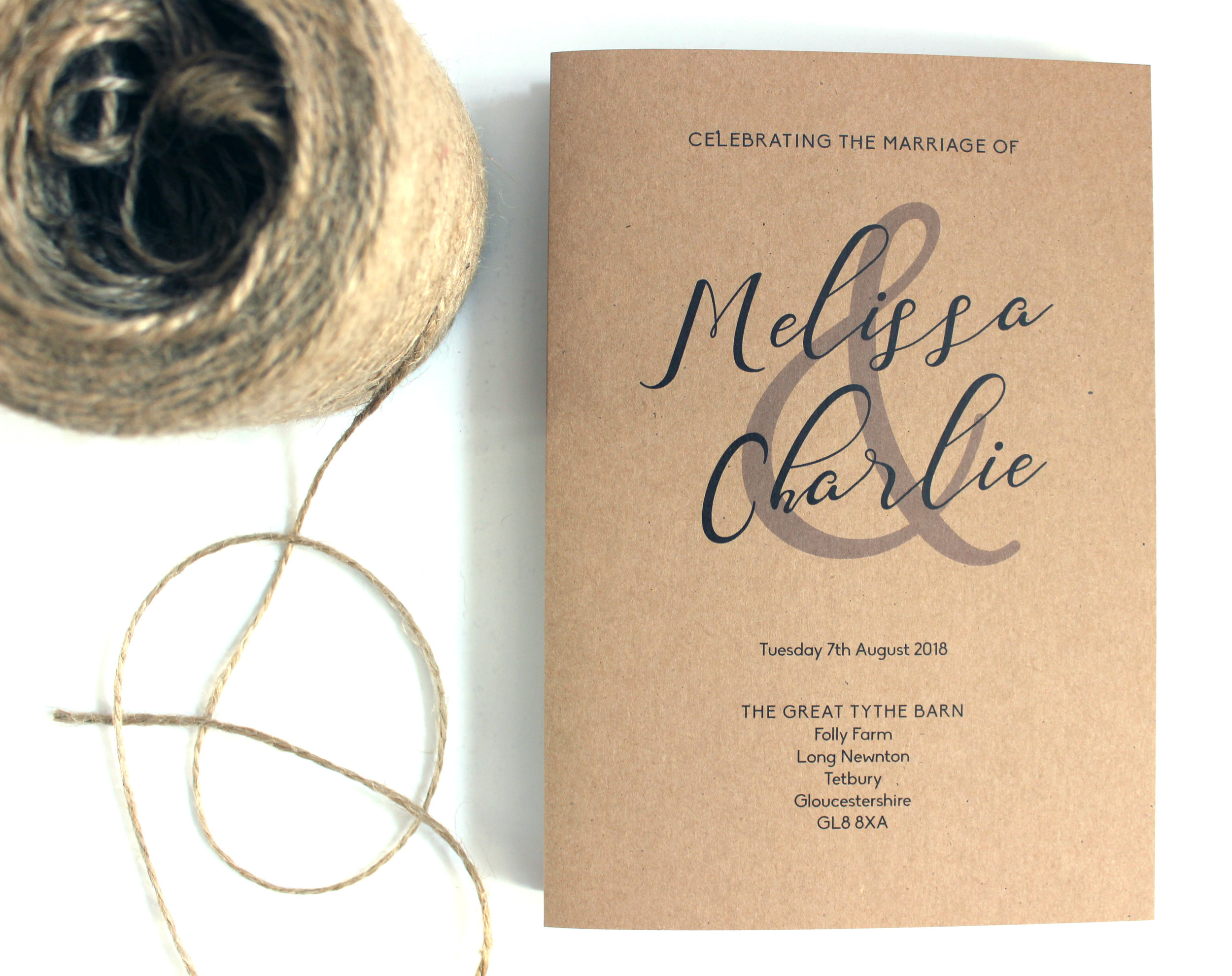 Rustic Order of the Service Booklets