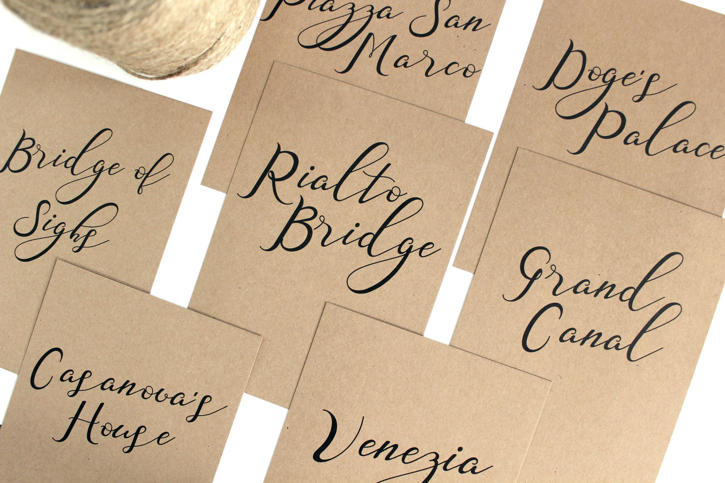 Rustic Table Names