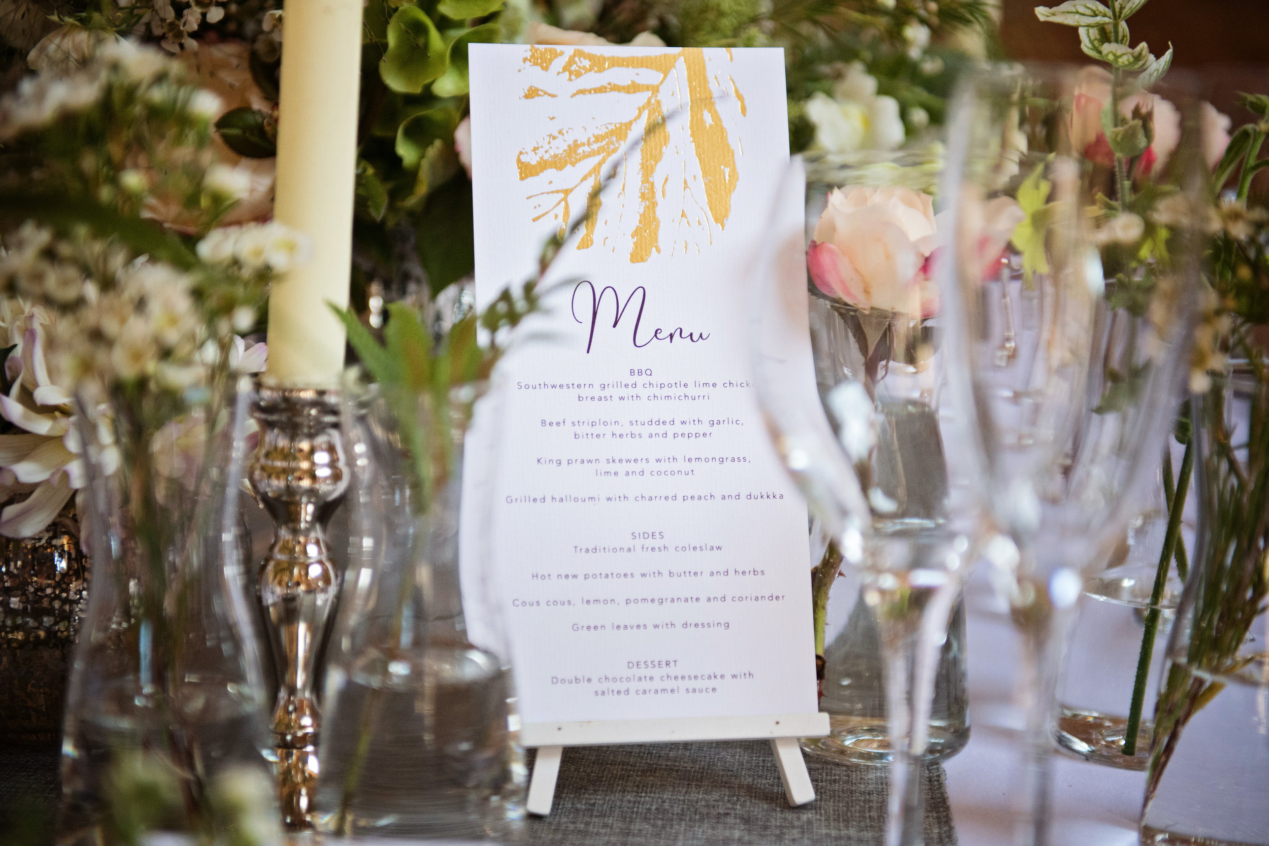 Gold Foiled Wedding Stationery