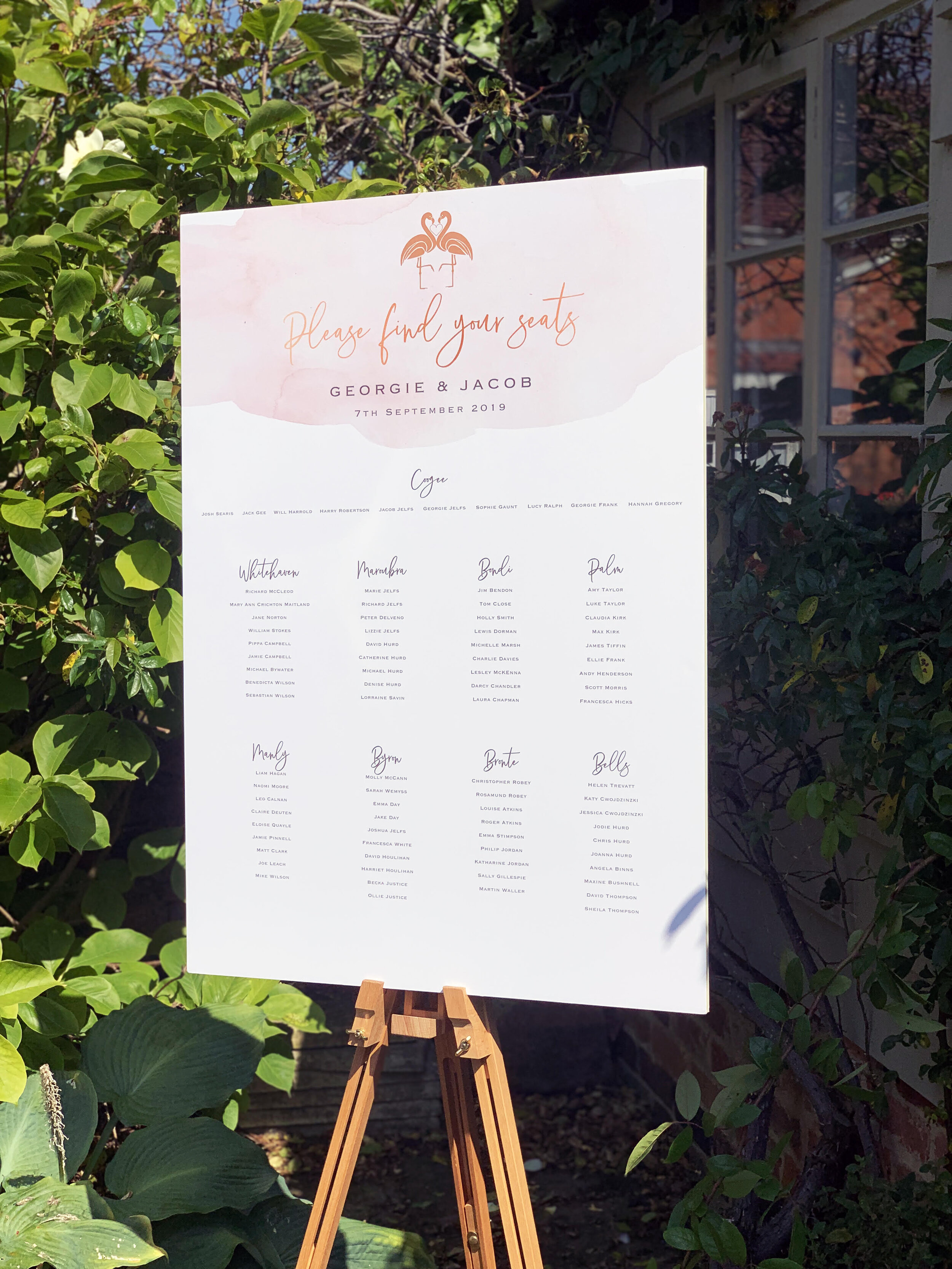 Flamingo Blush Seating Plan