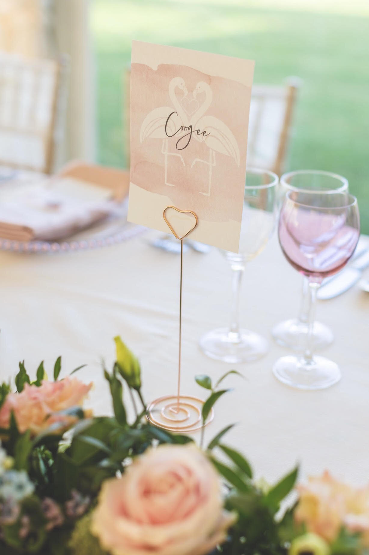 Flamingo Blush Table Name