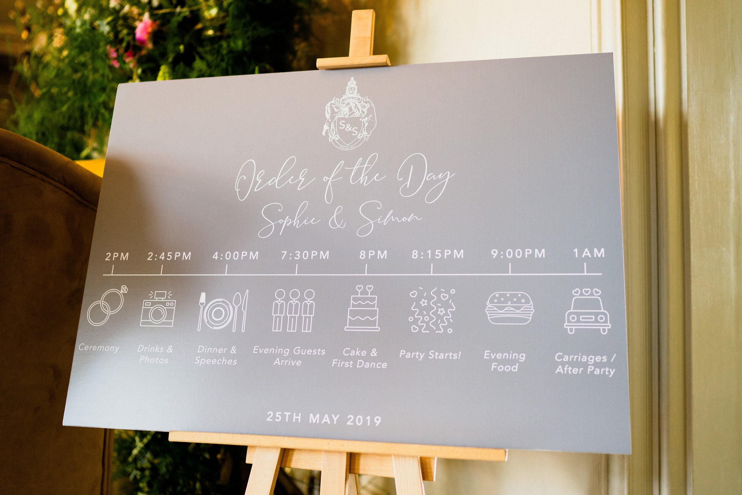 Order of the Day Signage