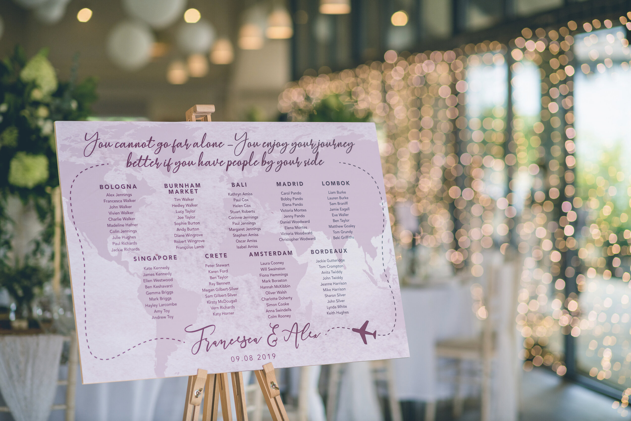 Lapstone Barn Table Plan Signage