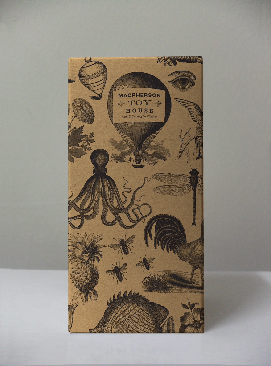 MacPherson Toy House - packaging, illustration