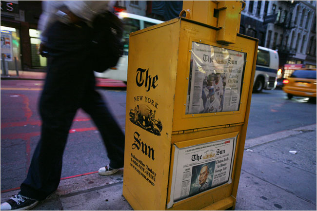 The New York Sun - creative direction, team build, publication design