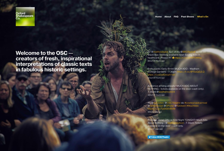 Oxford Shakespeare Co. - website design & build