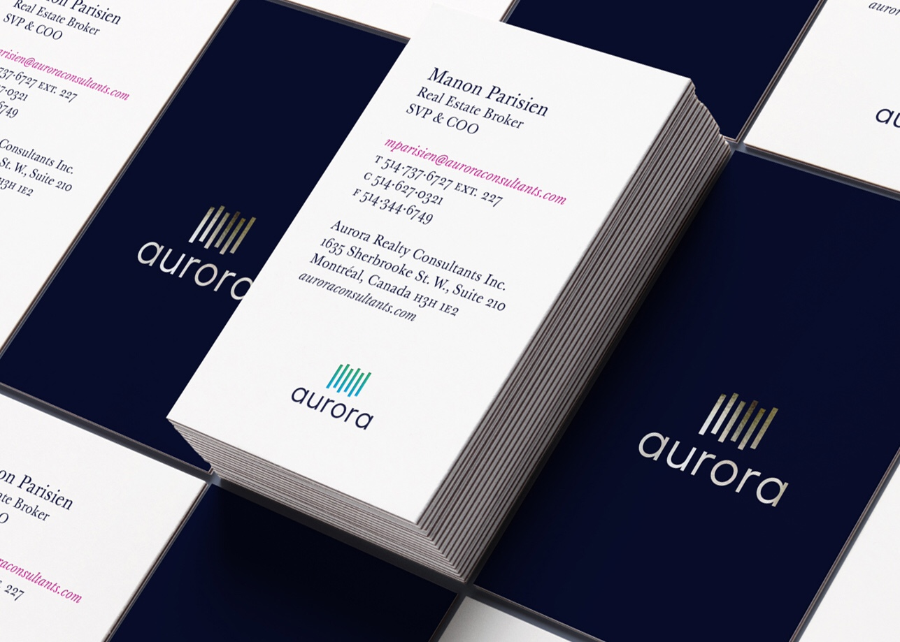 Aurora Realty Consultants - rebrand, logo design