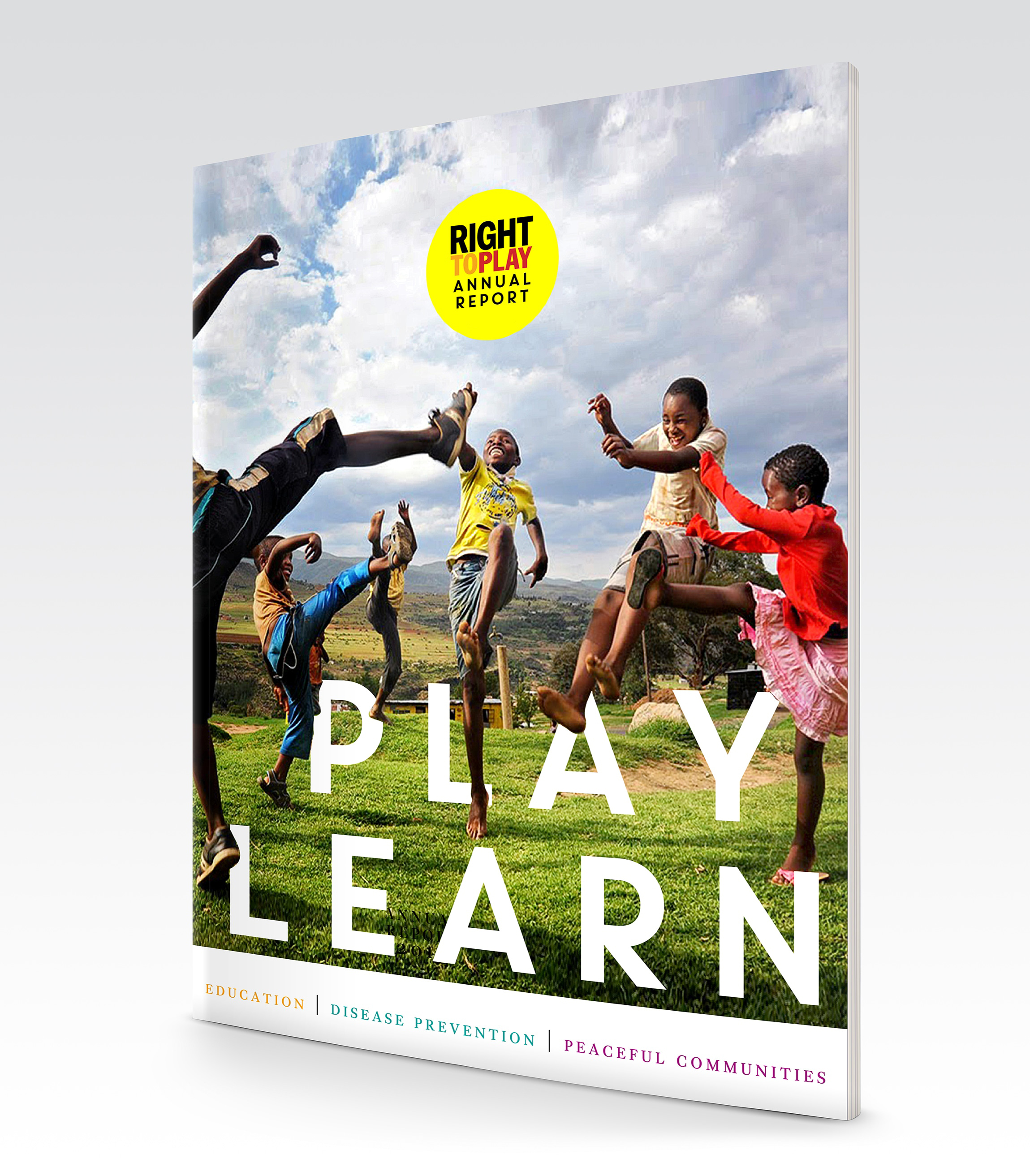 Right To Play - annual report, publication design, illustration