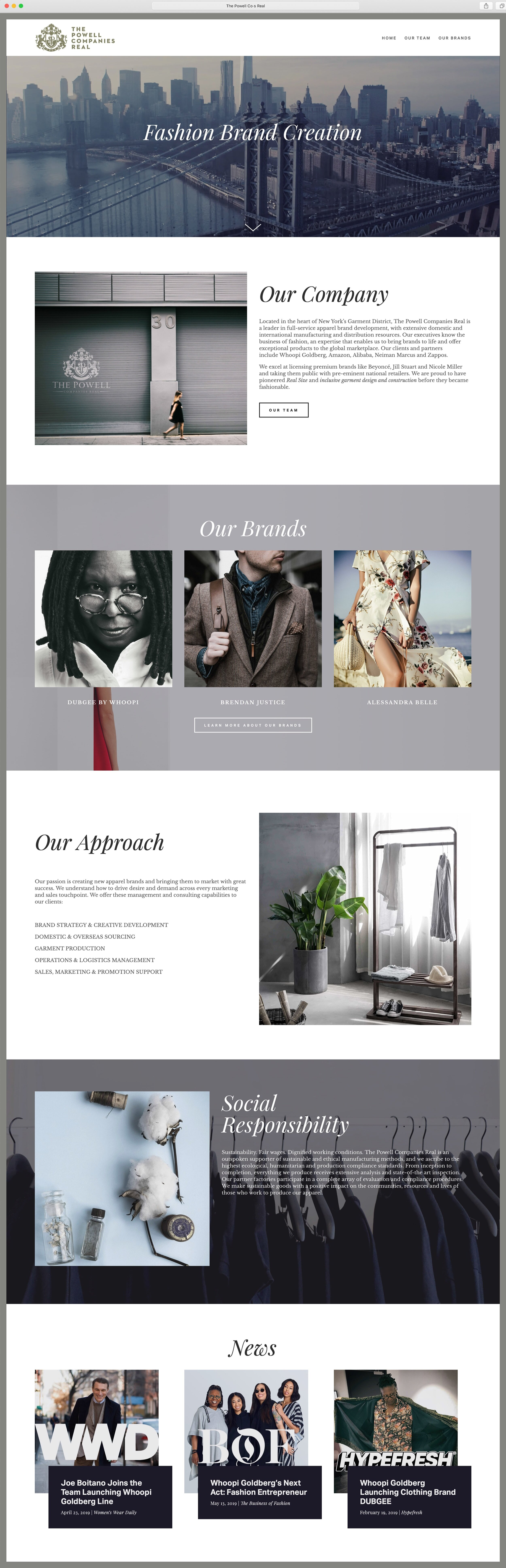 The Powell Co·s Real - website design & build, custom typography