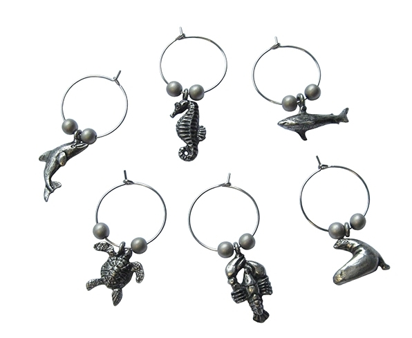MENAGERIE Wine Charm Sets, $10