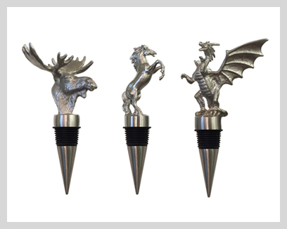 Menagerie Bottle Stoppers, $29