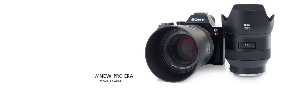 Zeiss Batis Sony Full Frame E Mount 85mm 25mm