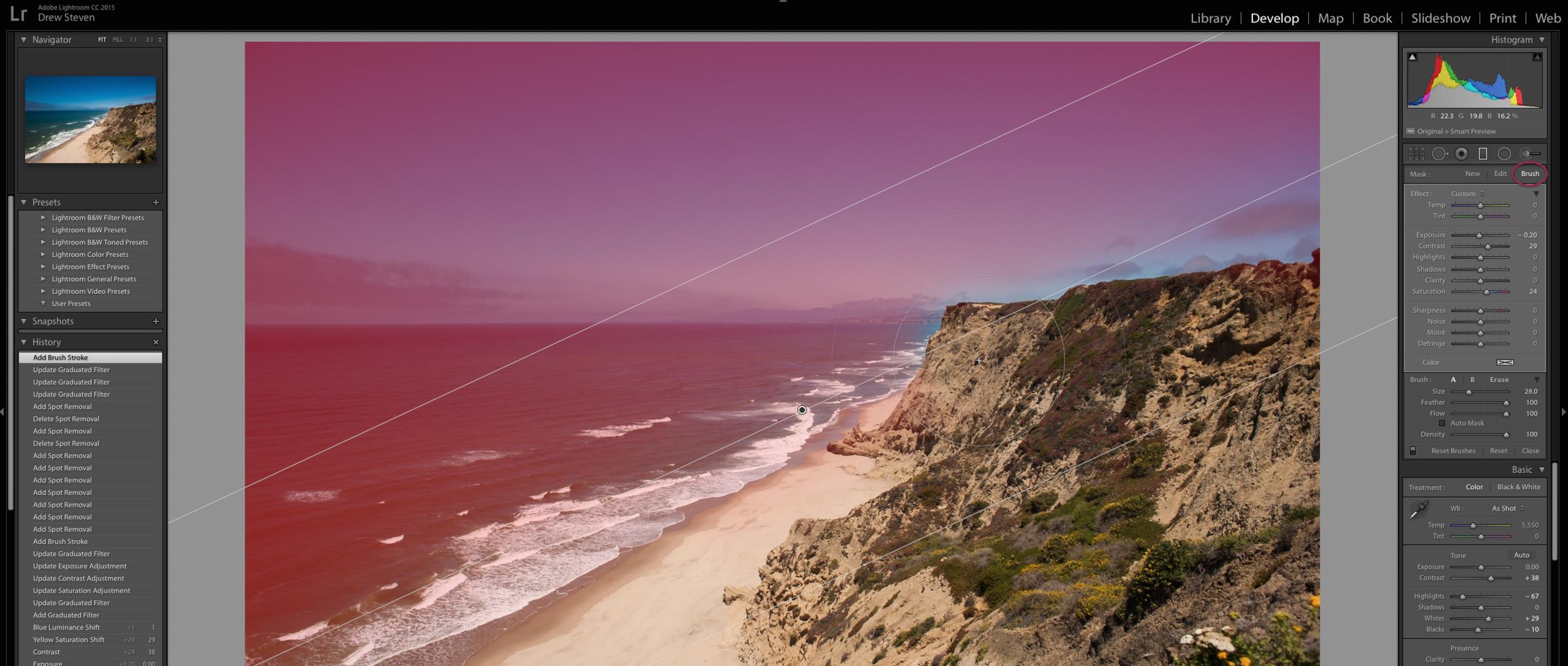 Lightroom CC 6 Adobe Photoshop Filter Brush Edit CA Landscape
