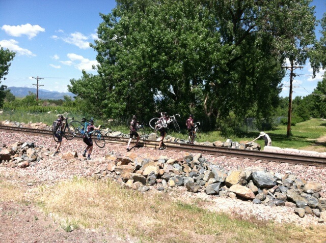 Back on track across the tracks