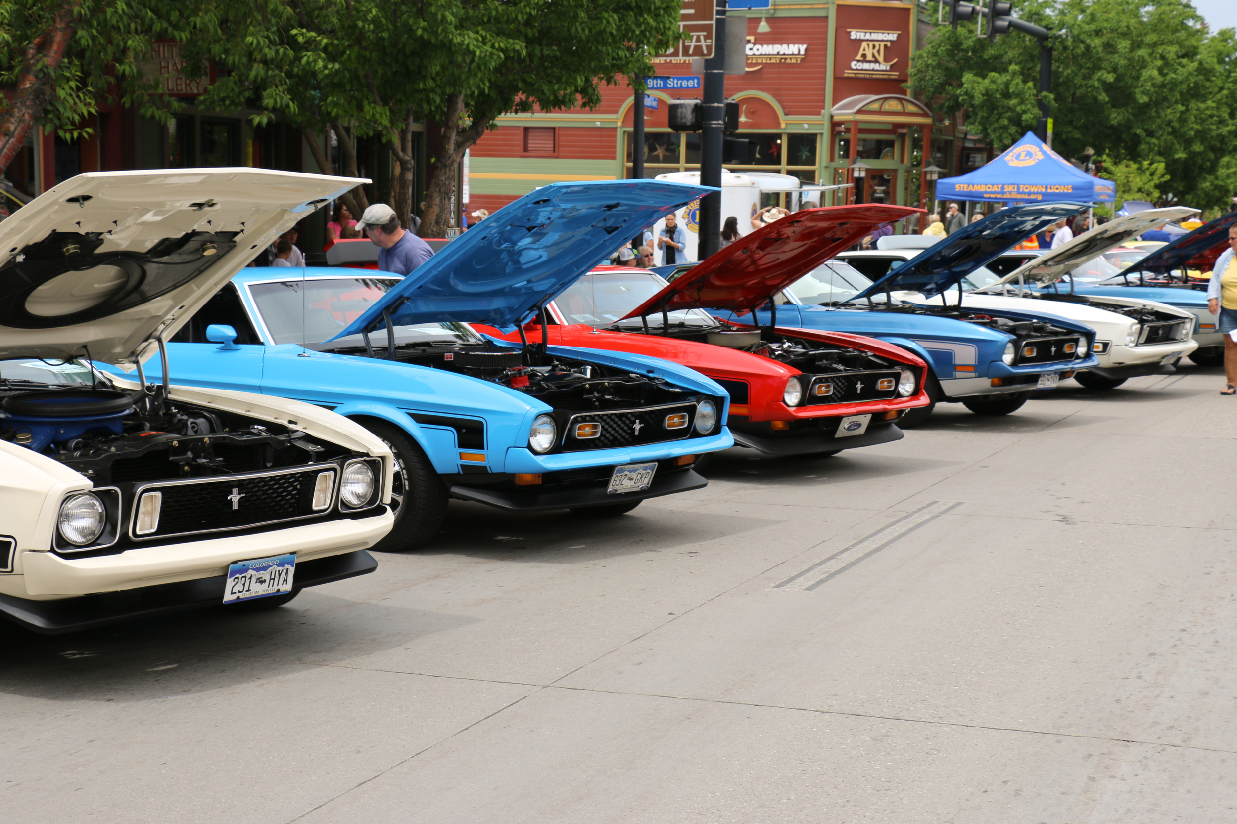 Mustang Roundup in downtown Steamboat