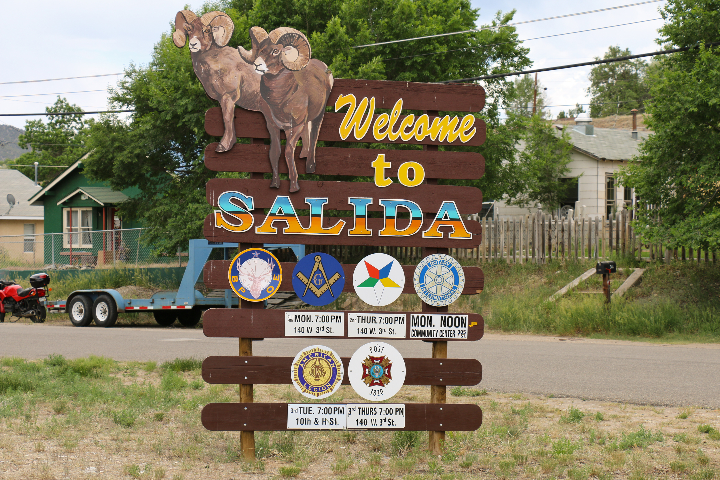 Running through Salida