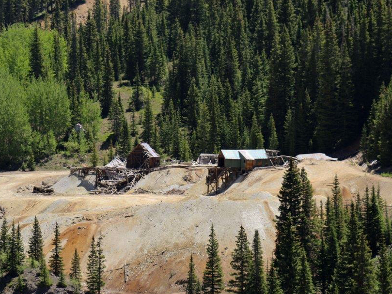 The abandoned Idarado mine
