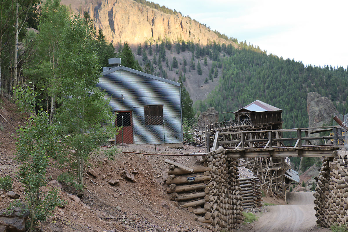 The ruins of the Equity Mine