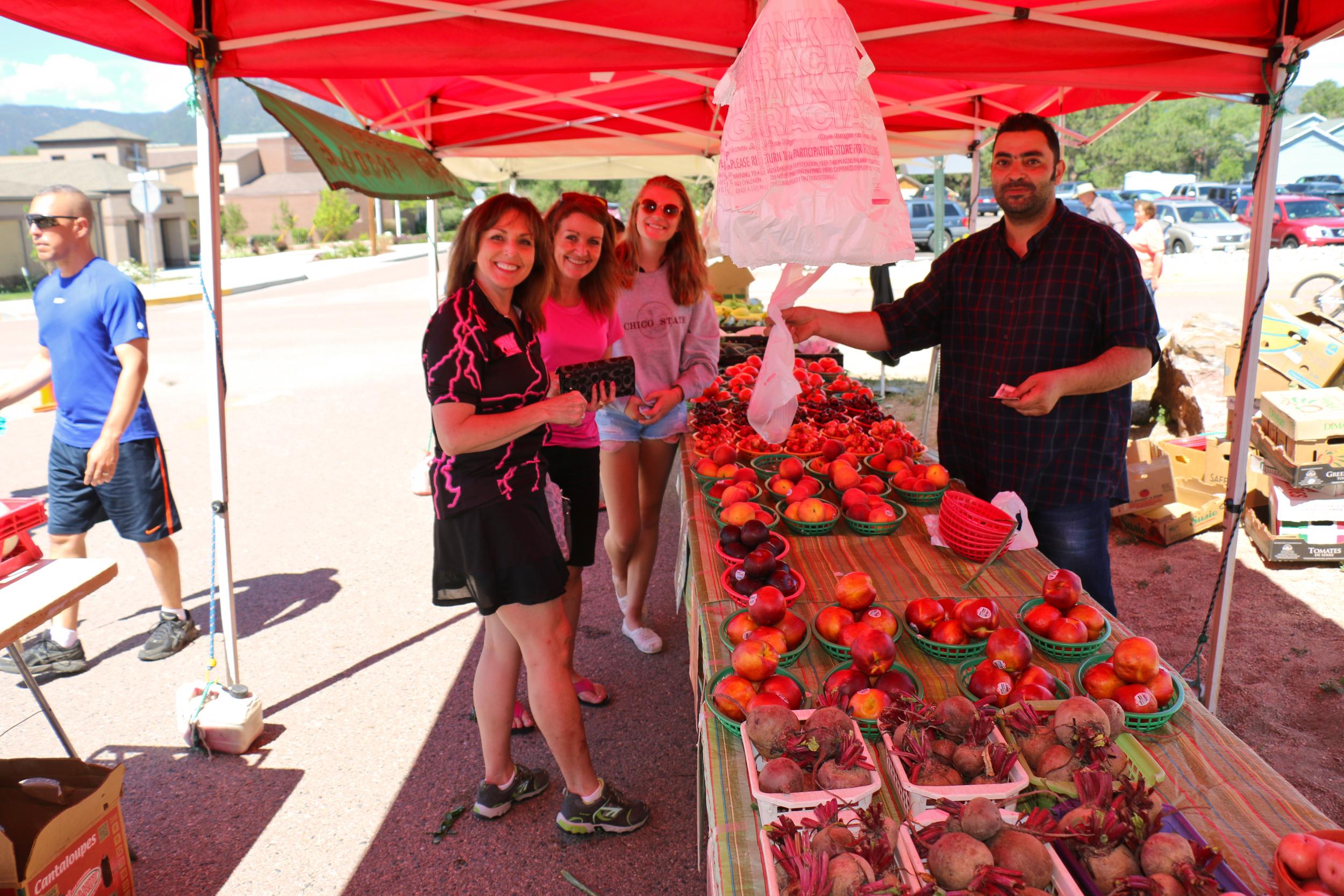 Peaches buying cherries