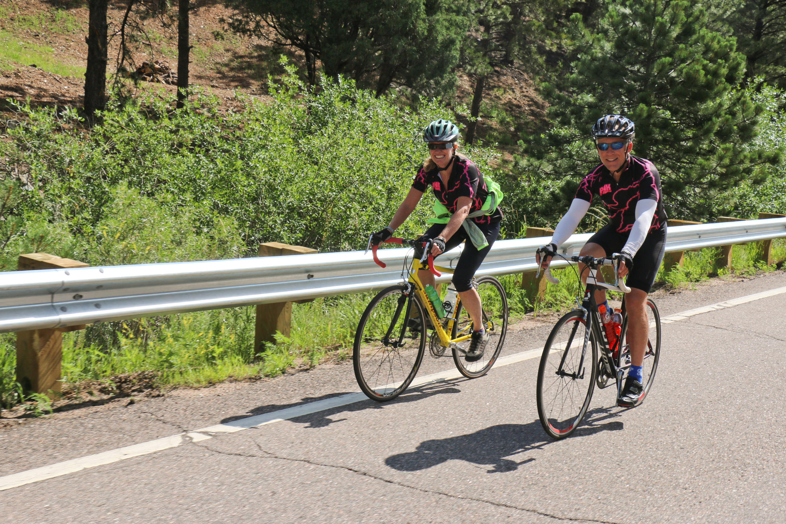 Pedaling up Floyd Hill