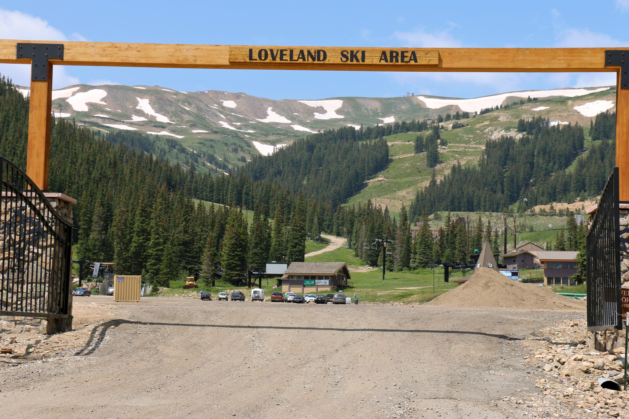 Loveland Ski Area at the bottom of the pass