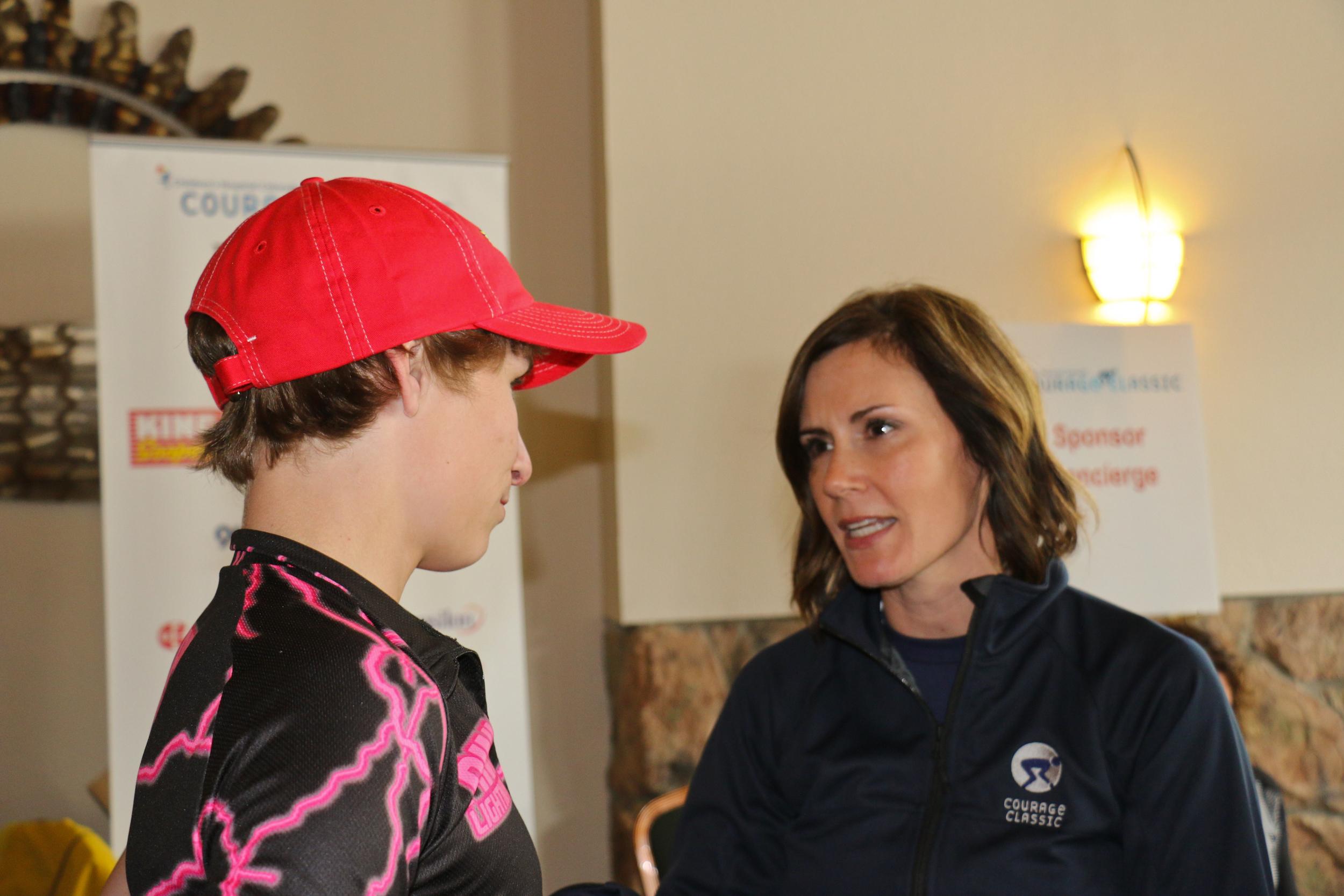 Bryan talks with Sheri Muilenburg - Children's Foundation