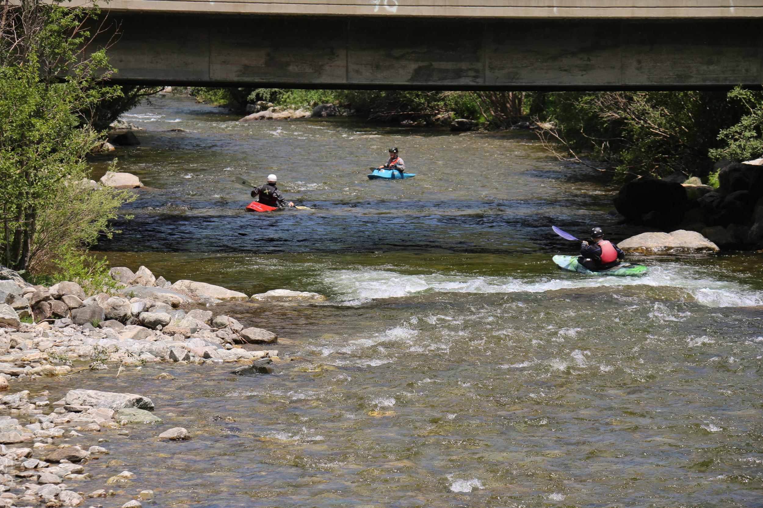 Kayakers enjoying Ten Mile Creek