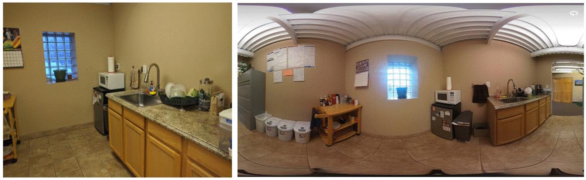 Still Photo vs. 360° photo  (click for viewer)
