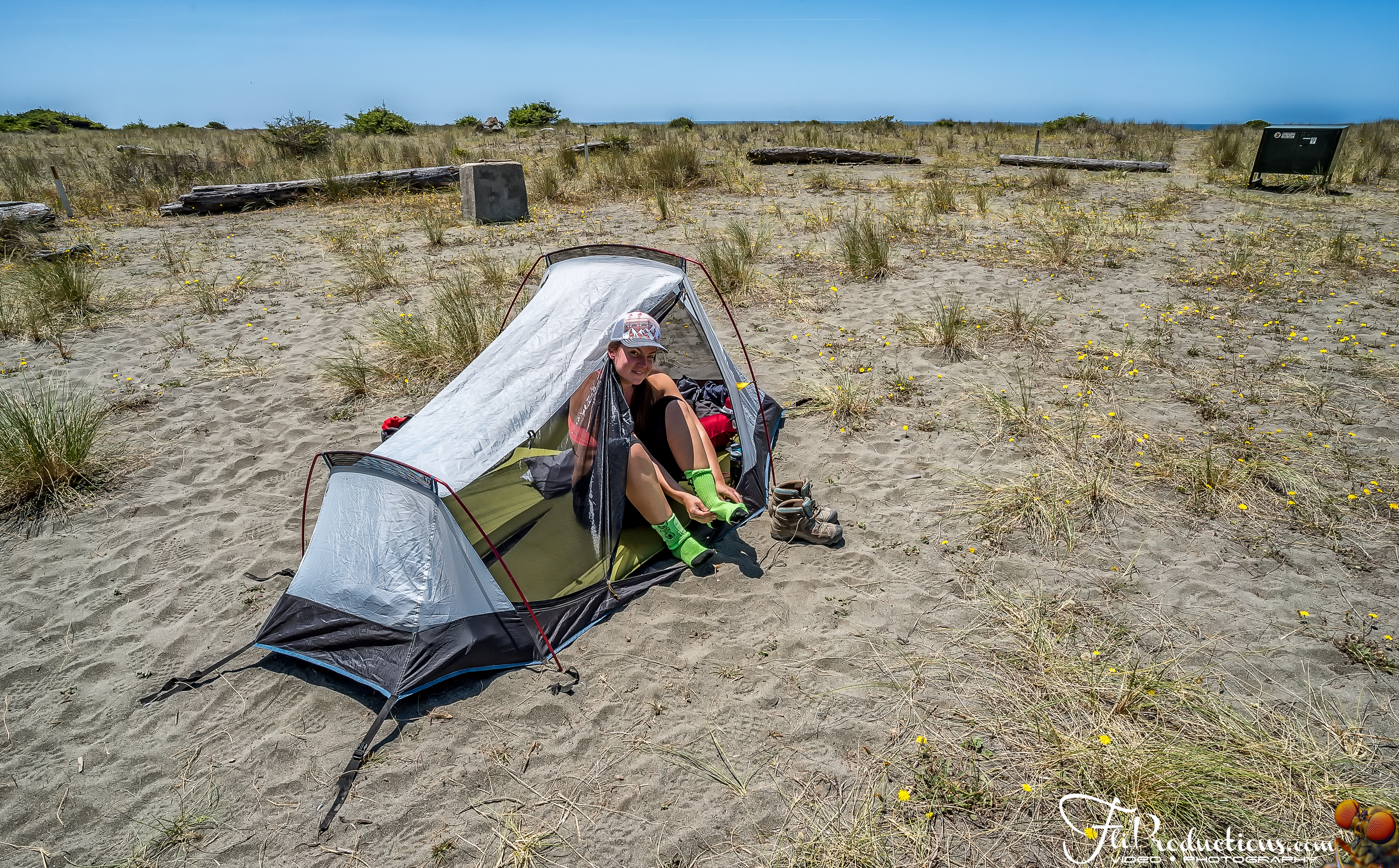 Gold Bluffs Beach Campground - Prairie Creek State Park Californ
