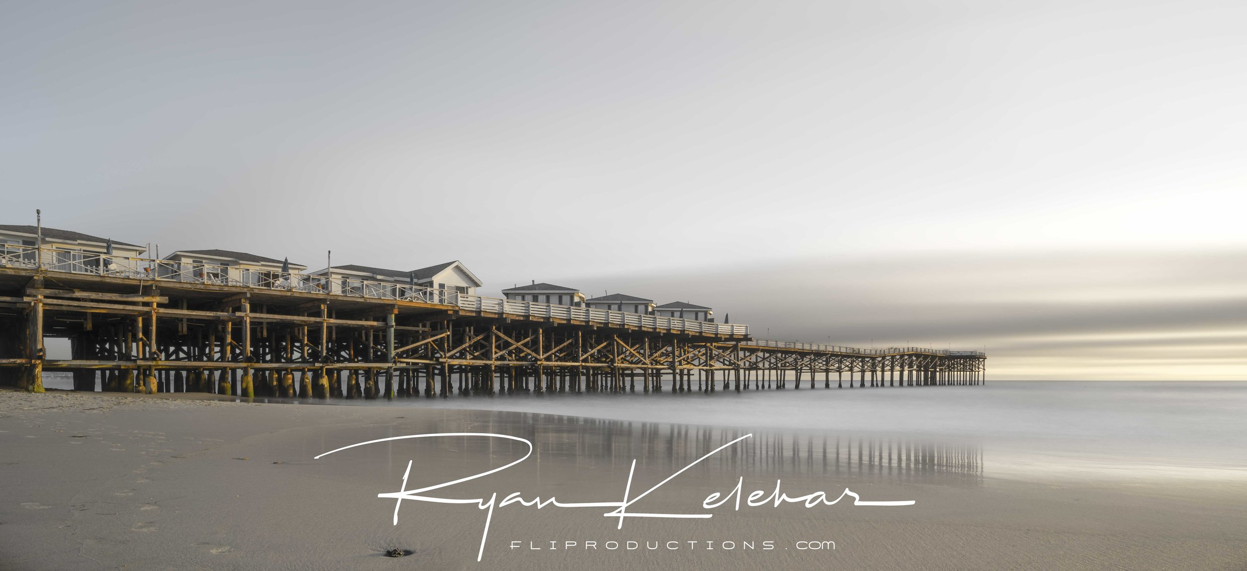 Sunset at Pacific Beach Pier - Crystal Pier - Mission Bay, San D