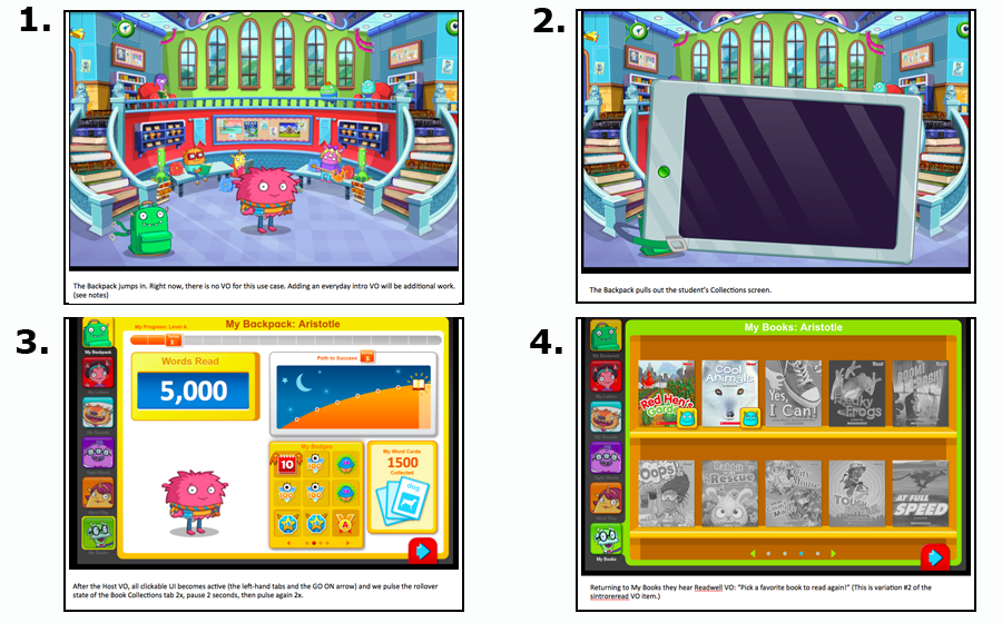 At every login, the student's Backpack pulls out a tablet and shows his/her progress in the software including the number of Books Read. For more context, see my Scholastic page.