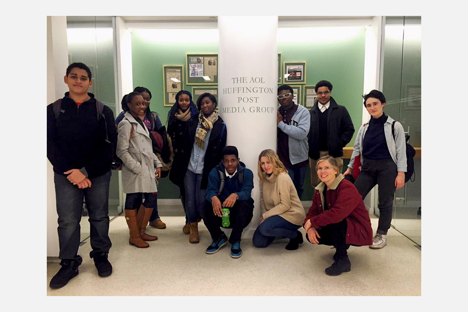 We visited  The Huffington Post  for our journalism workshop field trip.