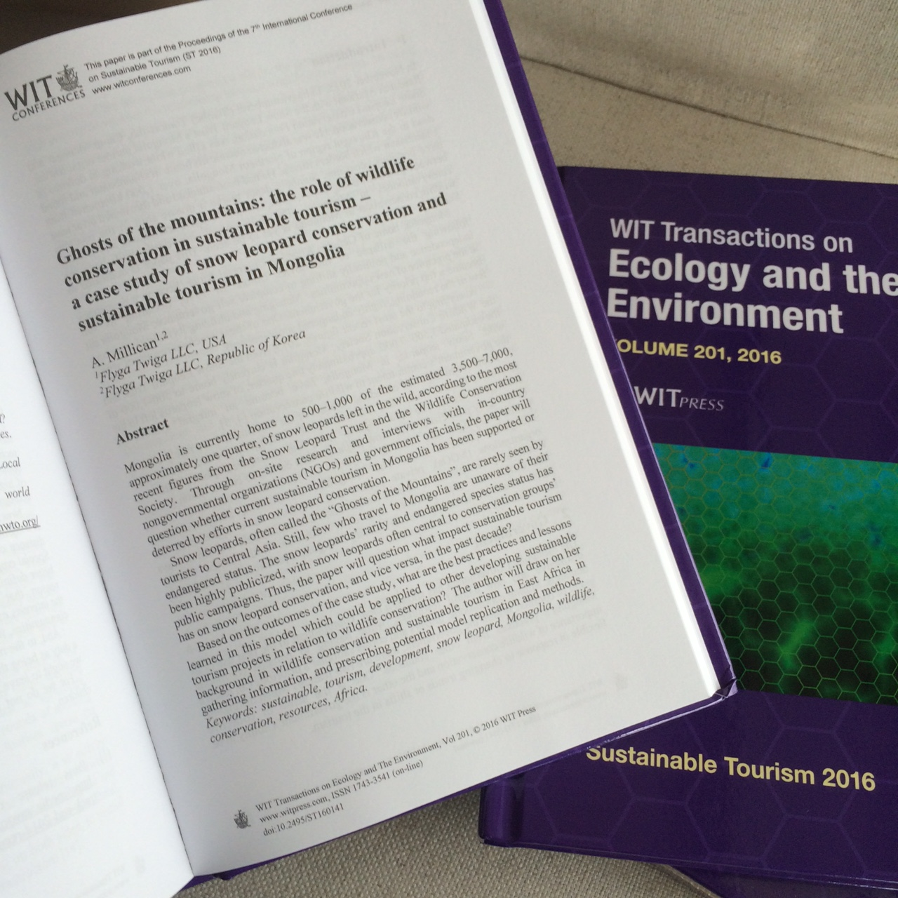 WIT Transactions on Ecology and the Environment © Flyga Twiga LLC