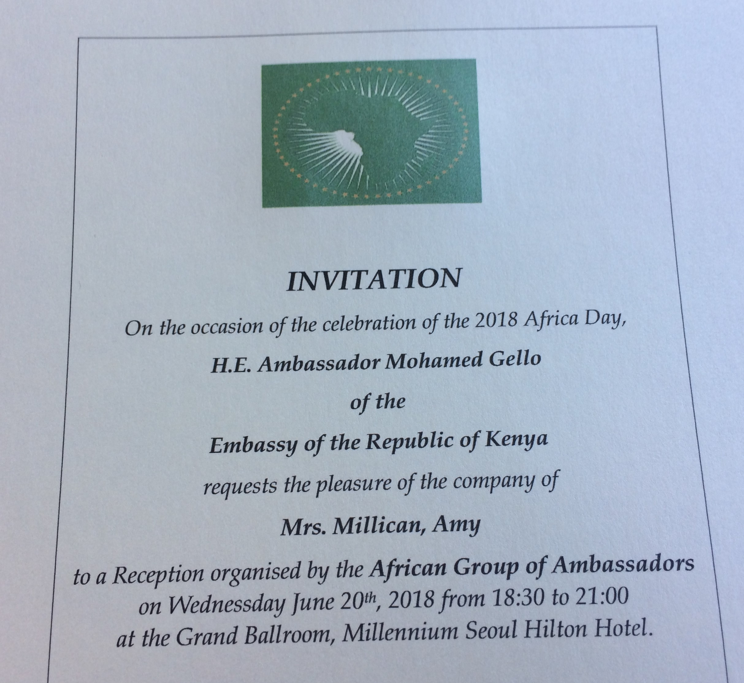 Africa Day Invitation 2018 © Flyga Twiga LLC