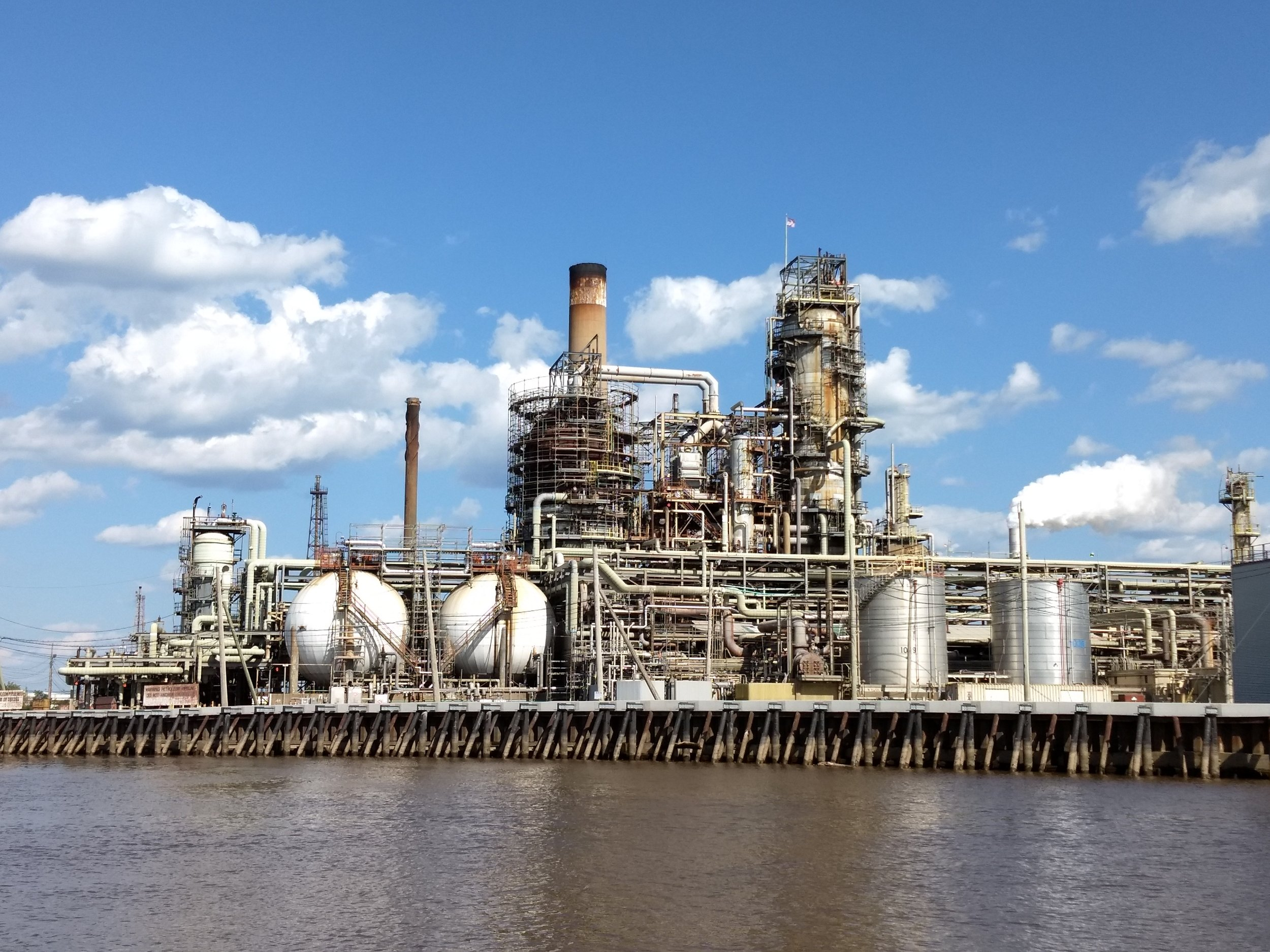 One of the many Philadelphia oil refineries
