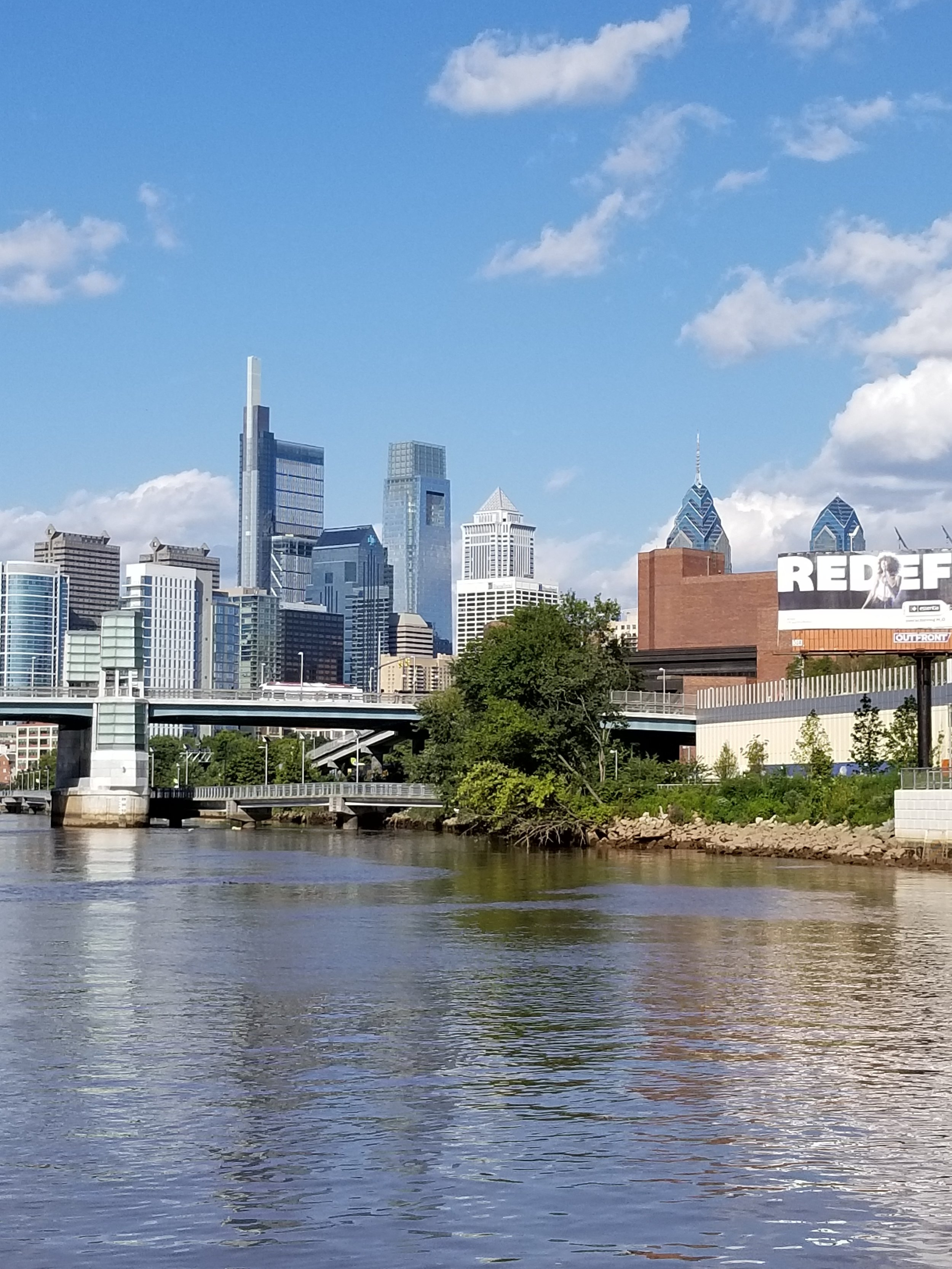 View from the Schulkyll River of Philadelphia's breathtaking skyline