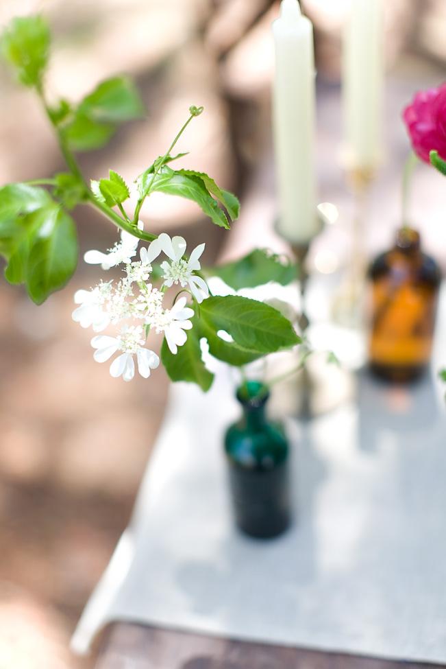 Petite bottle floral arrangement byt San Diego florist, Compass Floral.
